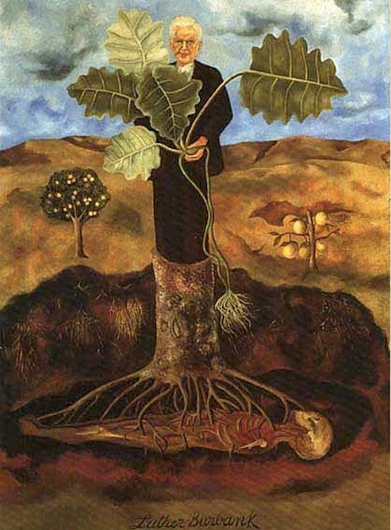 Frida-Kahlo-Portrait-of-Luther-Burbank