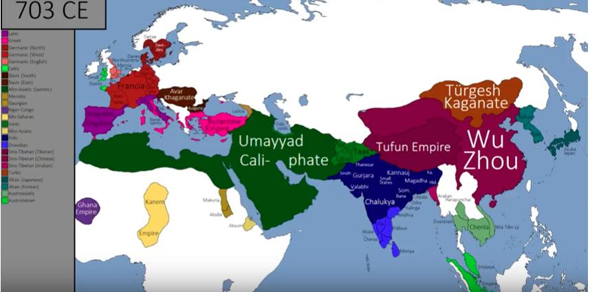 V-karta 704 CE Kanem empire