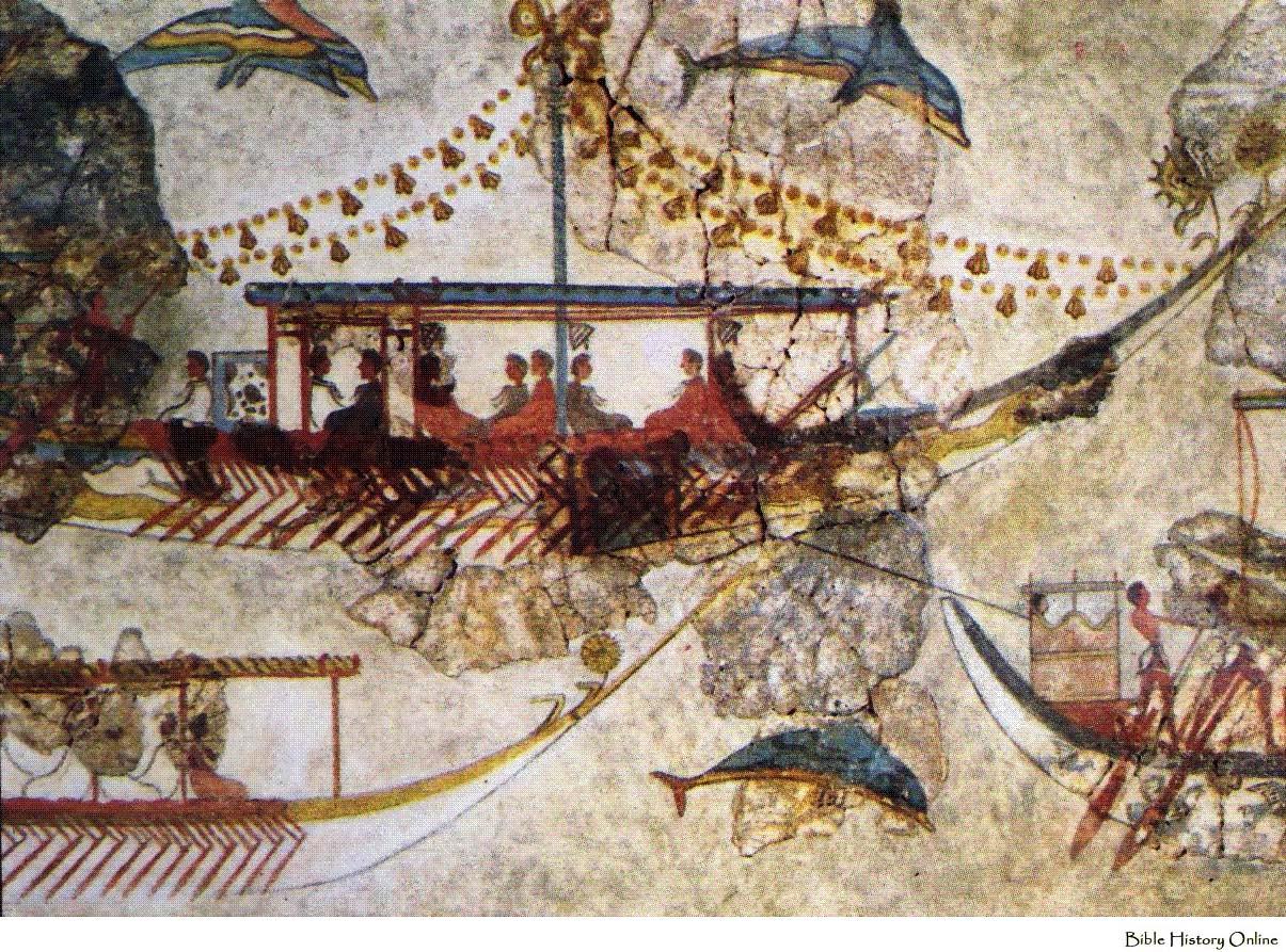 Akrotiri-Thera-fresco-fragment-National-Archaeological-Museum-Athens