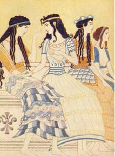 Costume-Minoan-women